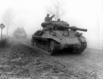 M36 Jackson tank destroyers of 703rd Tank Destroyer Battalion, US 82nd Airborne Division en route to attack a German position near Werbomont, Belgium, 20 Dec 1944