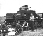 M3 medium tank number 309490 of D Company, 2nd Battalion, 13th Armored Regiment, US 1st Division at Souk el Arba, Tunisia, 23 Nov 1942, photo 2 of 3