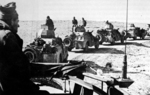 Israeli Palmach forces in US-built M3A1 Scout Cars in the Negev region in southern Israel, 1948