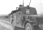 George Patton in his modified M3A1 Scout Car, circa 1943, photo 1 of 2