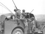 George Patton in his modified M3A1 Scout Car, circa 1943, photo 2 of 2
