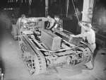 M2 Half-track vehicles under construction, Diebold Safe and Lock Company factory, Canton, Ohio, United States, Dec 1941, photo 2 of 4