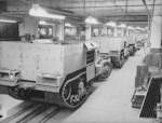M2 Half-track vehicles under construction, Diebold Safe and Lock Company factory, Canton, Ohio, United States, Dec 1941, photo 4 of 4