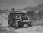 M3 Half-track vehicle at Fort Knox, Kentucky, United States, Jun 1942