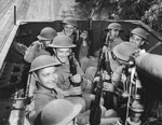 American troops inside a M3 Half-track vehicle during training, Fort Knox, Kentucky, United States, Jun 1942