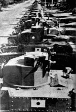 Captured M3 Stuart tanks with Japanese markings, date unknown