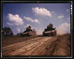 Two M3 light tanks at Fort Knox, Kentucky, United States, Jun 1942