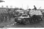 Unloading a Marder I tank destroyer from a train car, Belgium or France, 1943-1944, photo 09 of 10