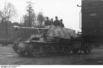 Unloading a Marder I tank destroyer from a train car, Belgium or France, 1943-1944, photo 10 of 10