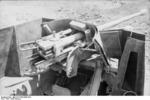 Close-up view of a PaK 40 gun mounted on a Marder II tank destroyer, Kharkov, Ukraine, early 1943, photo 2 of 7