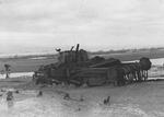 British flail tank on the Normandy beach, France, Jun 1944