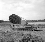 Churchill AVRE vehicle with fascine, of UK 79th (Experimental) Armored Division Royal Engineers, 6 Sep 1943