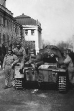 Japanese troops posing with a captured Chinese Panzer I Ausf A tank, Nanjing, mid-Dec 1937