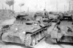 Chinese Panzer I Ausf. A light tanks captured by the Japanese, Nanjing, China, Dec 1937