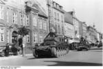 German Panzer II and Panzer I light tanks in Horsens, Denmark, Apr 1940