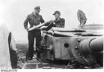 German crew loading rounds into a Tiger I heavy tank, Belgorod, Russia, Jul 1943
