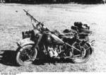 German R75 motorcycle with MG 34 machine gun, early 1942