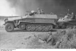 SdKfz. 251 ausf. C halftrack vehicle in Russia, 1942; note MG34 machine guns