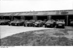 Newly-built SdKfz. 250 and SdKfz. 251 halftrack vehicles, near Berlin, Germany, 1942, photo 4 of 4