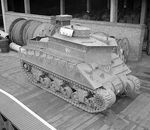 Sherman BARV vehicle, Earls Court, London, England, United Kingdom, 8 Feb 1944