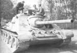 Captured SU-85 tank destroyer in German service, 1940s