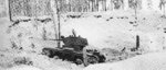 Soviet T-26 tank at the Kollaa River in northern Russia, 17 Dec 1939