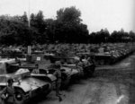 Type 1 Chi-He medium tanks being reviewed, circa 1943-1944