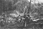 105mm Howitzer M2A1 crew of US 152nd Field Artillery Battalion on New Georgia, Solomon Islands, 1943