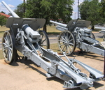 10.5 cm K 17 and 10.5 cm K 14 field guns at the US Army Field Artillery Museum, Fort Sill, Oklahoma, United States, 23 Dec 2007