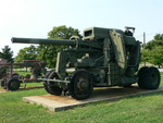 120 mm Gun M1 anti-aircraft weapon on display at the United States Army Ordnance Museum, Maryland, United States, 14 Aug 2007; photo 2 of 3