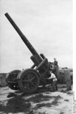 21 cm Mrs 18 heavy howitzer, Lapland, Norway, 1941, photo 2 of 2