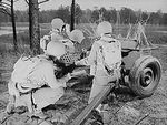 37 mm Gun M3 and crew at Fort Benning, Georgia, United States, Apr 1942