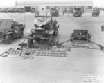 Jeep, WC-4 truck, and 37 mm Gun M3 of US 811th Tank Destroyer Battalion, Camp Carson, Colorado, United States, 1 May 1943