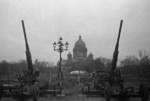 Soviet 76 mm M1938 anti-aircraft guns at Leningrad, Russia, 1 Oct 1941