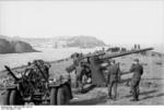 German 8.8 cm FlaK 36 anti-aircraft battery on the French coast, 1942, photo 1 of 3