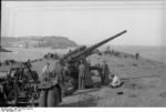 German 8.8 cm FlaK 36 anti-aircraft battery on the French coast, 1942, photo 2 of 3
