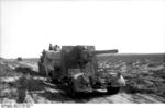 German 8.8 cm FlaK gun being towed during the First Battle of El Alamein, Egypt, Jul 1942