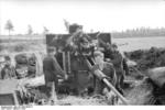 German 8.8 cm FlaK gun in Russia, 1942, photo 1 of 2