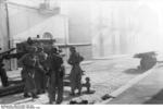 German paratroopers with an 8.8 cm FlaK anti-tank gun in a town in Southern Italy, 8 Nov 1943