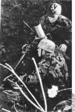 German paratroopers with an 8 cm GrW 34 mortar, Italy, Feb 1944