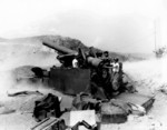 M115 howitzer of US 8th Army in action, Korea, 13 Aug 1952