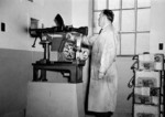Testing a newly completed Bren gun at the John Inglis and Company factory, Toronto, Canada, 1940s
