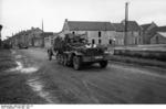 SdKfz 10/4 vehicle with a mounted 2 cm FlaK 30 anti-aircraft gun, France, May 1940, photo 1 of 3