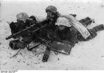 German MG34 machine gun crew in wintry terrain, Jan 1941