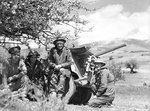 2 pounder gun of Australian 1st Anti-Tank Regiment and its crew near Vevi, northern Greece, 13 Apr 1941