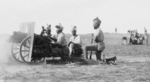 Indian troops operating a QF 3.7 inch mountain gun at Mt. Scopus, Palestine, 1917 or 1920