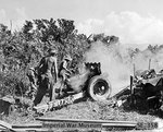 QF 3.7 inch mountain howitzer of 158th Field Artillery Regiment, UK 36th Infantry Division, south of Mawlu, Burma, 3 Nov 1944