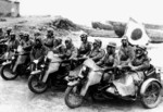 Unidentified Japanese military motorcycles with Type 11 machine guns, date unknown